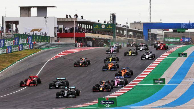 Partenza GP Portogallo 2020