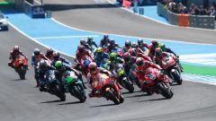 Partenza MotoGP Marquez, Dovizioso, Morbidelli, Vinales, Crutchlow, Miller...