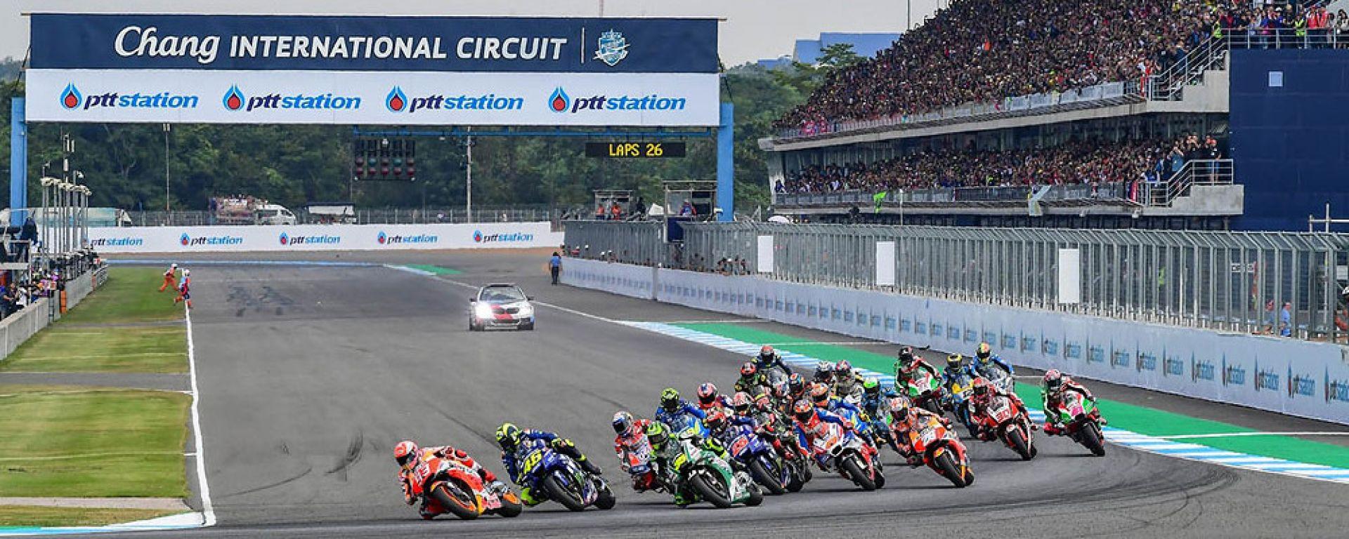 Partenza MotoGP Thailandia 2019