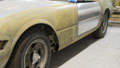 Particolare della fiancata della Ferrari 365 GTB/4 Daytona all'asta