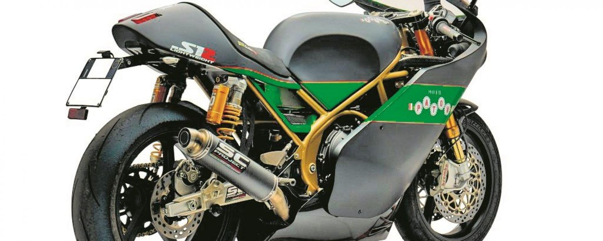 Paton S1R 60°Anniversario: la moto di Dunlop con targa e fari