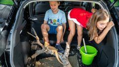 Per i bambini il bagagliaio della Ford Puma è un luogo sicuro in cui giocare