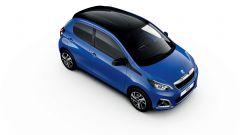 Peugeot 108 2020 Blue Calvi metallizzato con tetto Black Diamond a contrasto