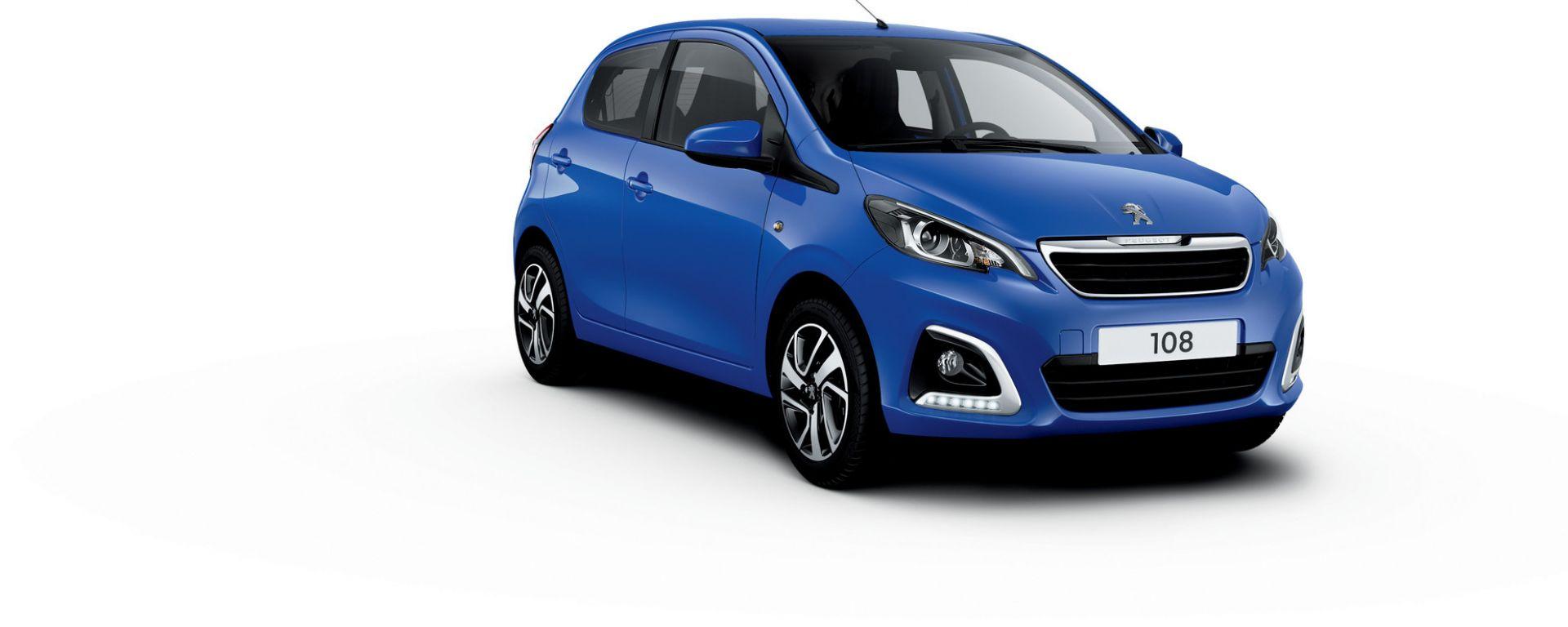 Peugeot 108 2020, il nuovo colore Blue Calvi metallizzato