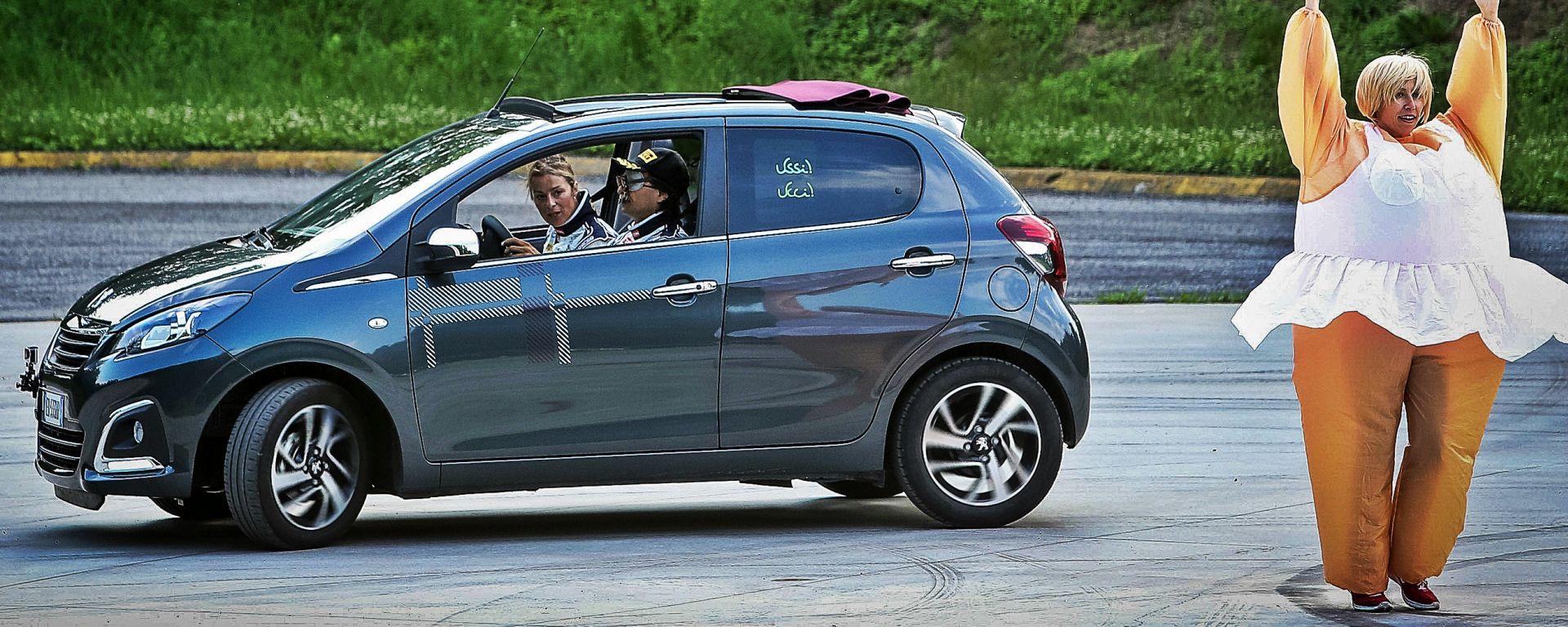 Peugeot 108 e Andreucci in pista alla cieca