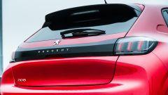 Peugeot 208 2019: dettaglio del fascione posteriore