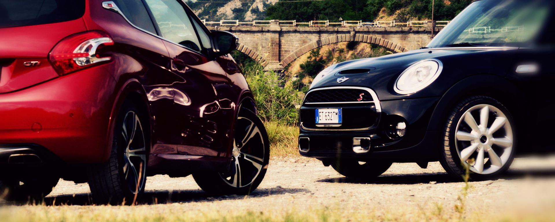 Peugeot 208 GTi vs Mini Cooper S 2014