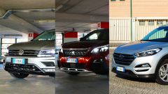 Peugeot 3008 vs Hyundai Tucson vs Volkswagen Tiguan: il video - Immagine: 1