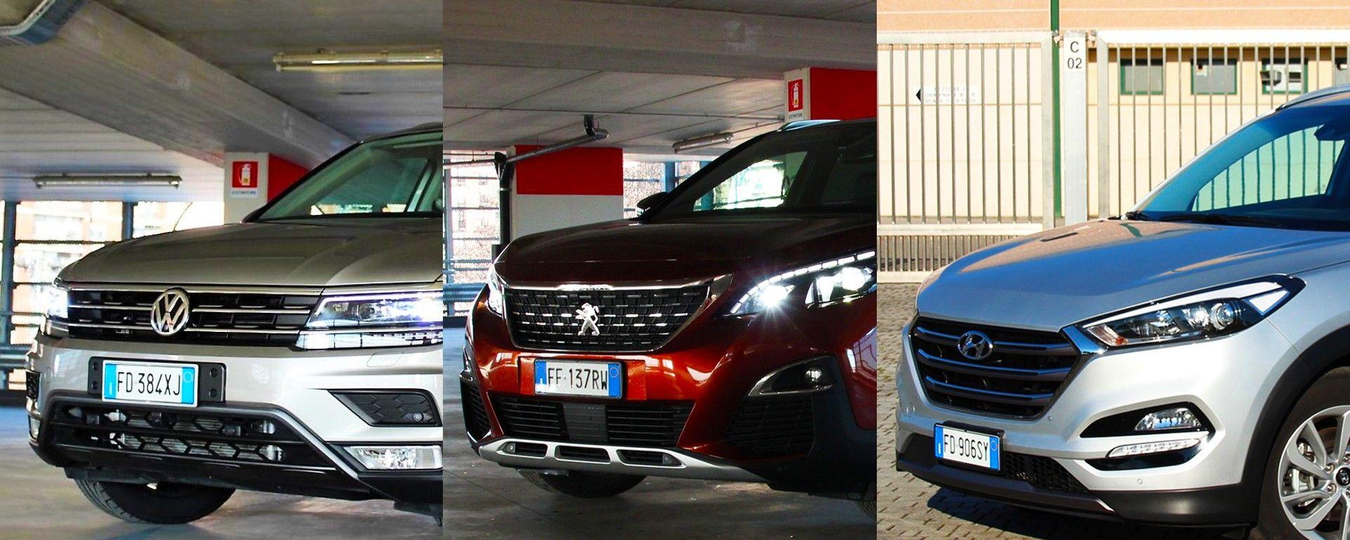 Peugeot 3008 vs Hyundai Tucson vs Volkswagen Tiguan