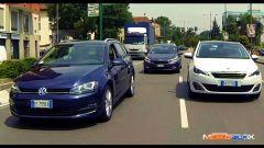 Peugeot 308 SW vs Kia cee'd Sportswagon vs Golf Variant  - Immagine: 1
