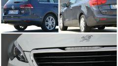 Peugeot 308 SW vs Kia cee'd Sportswagon vs Golf Variant  - Immagine: 4