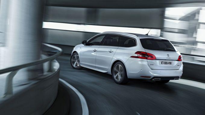 Peugeot 308: visuale posteriore