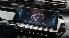 Peugeot 508 Hybrid 2020 schermo e pulsantiera