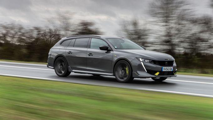Peugeot 508 Sport Engineered, la station wagon oggetto della prova