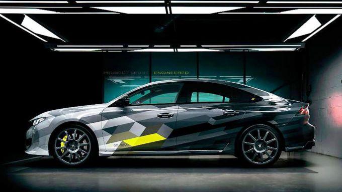 Peugeot 508 Sport Engineered PHEV: vista laterale