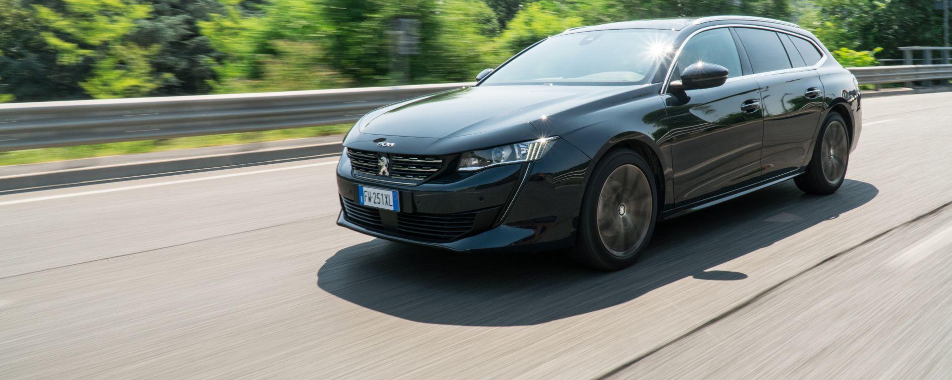 Peugeot 508 SW 2019 1.6 PureTech Turbo Allure EAT8: la prova su strada
