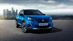 Peugeot e-2008: la 2008 elettrica in vista 3/4 anteriore