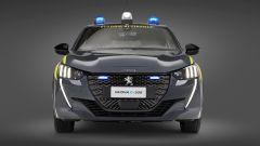 Peugeot e-208 per la Guardia di Finanza: visuale frontale