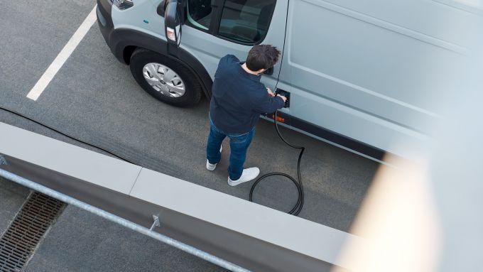 Peugeot e-Boxer elettrico: ricarica facile
