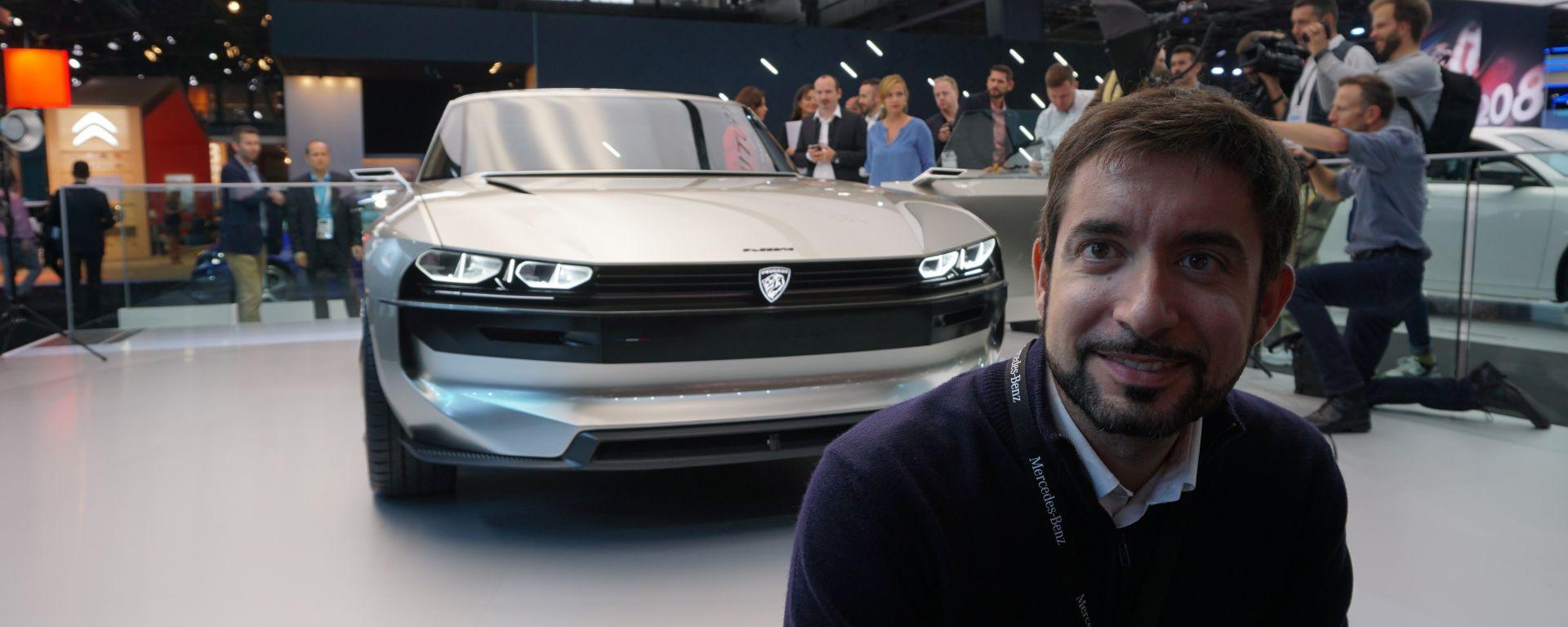 Peugeot e-Legend Concept in video dal Salone di Parigi 2018