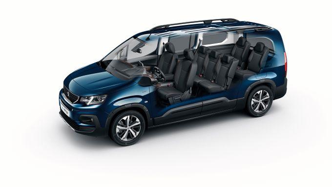 Peugeot e-Rifter, gli interni