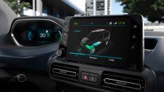 Peugeot e-Rifter, lo schermo dell'infotainment