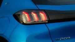 Peugeot e208, il fanale posteriore