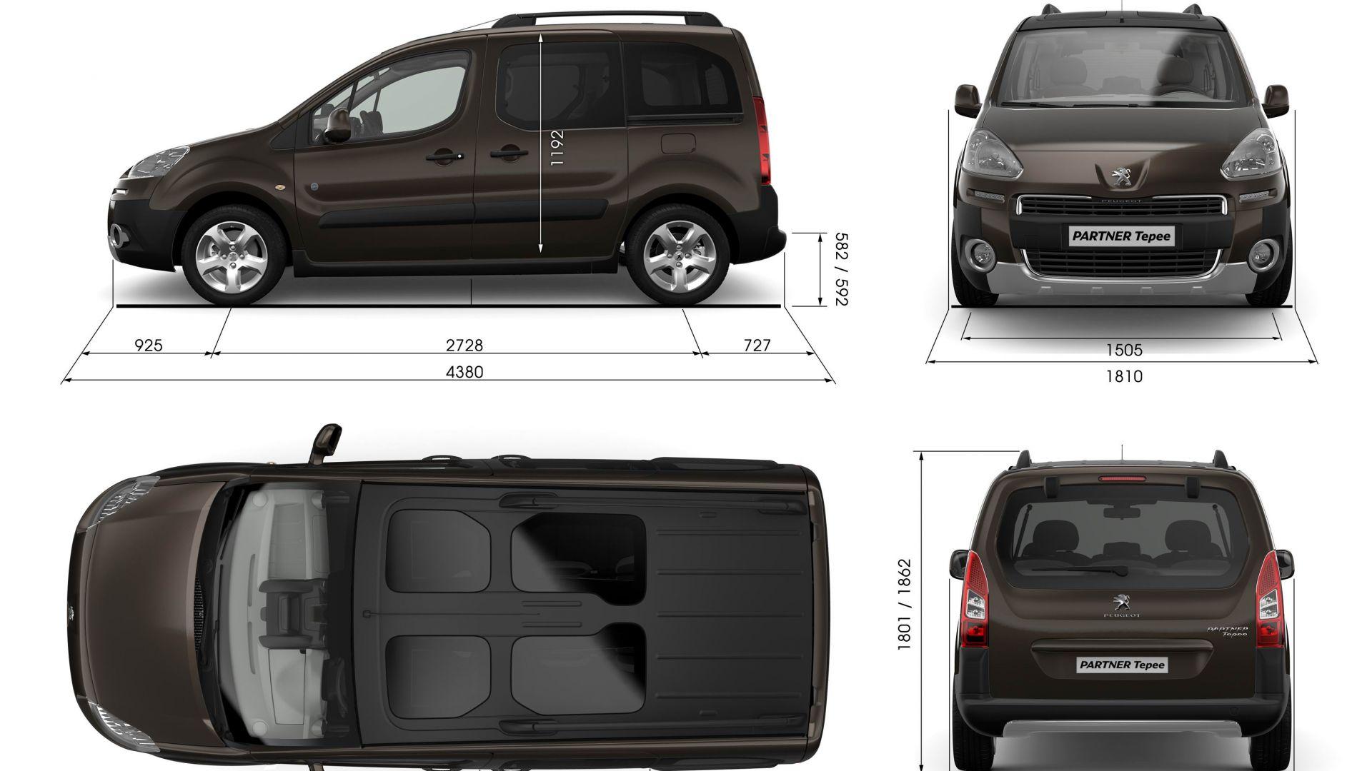 anteprima peugeot partner tepee 2012 motorbox. Black Bedroom Furniture Sets. Home Design Ideas