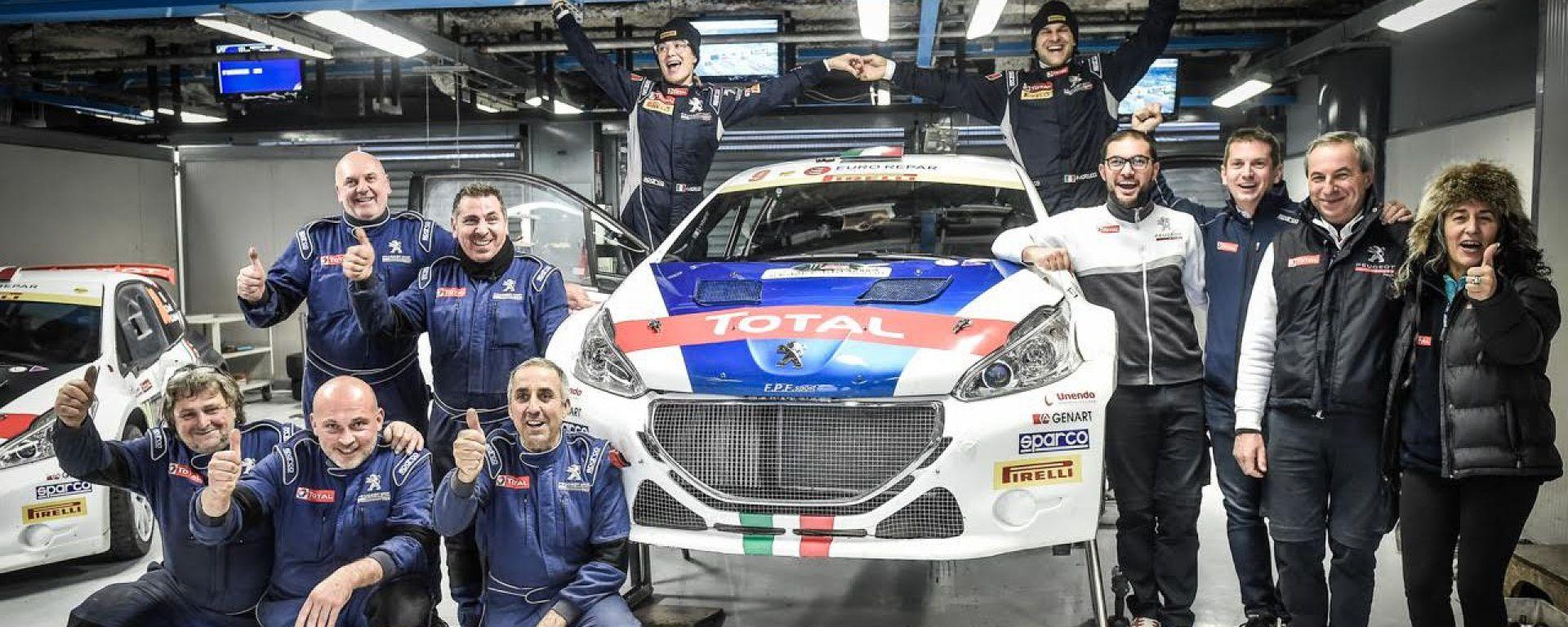 Peugeot Sport Italia con Andreucci, Testa e Tavelli: che esperienza al MonzaRallyShow!