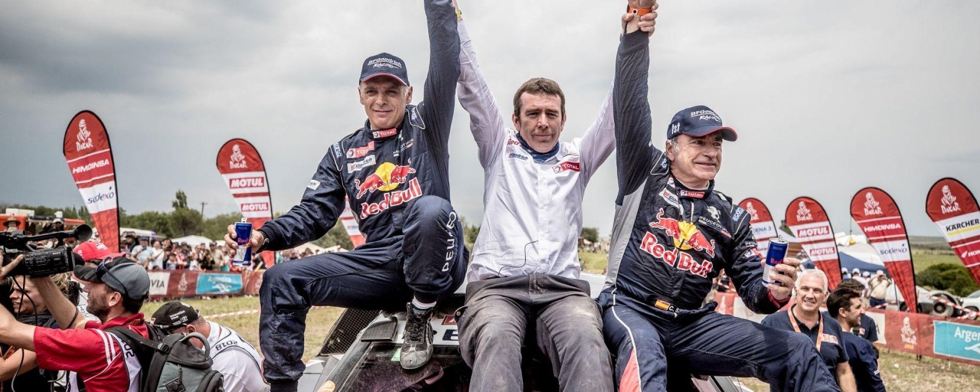 Peugeot Sport Total vince la Dakar 2018 con la 3008 di Sainz