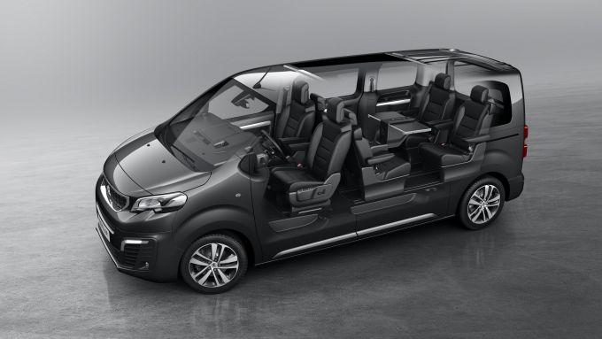 Peugeot Traveller: lo spazio a bordo