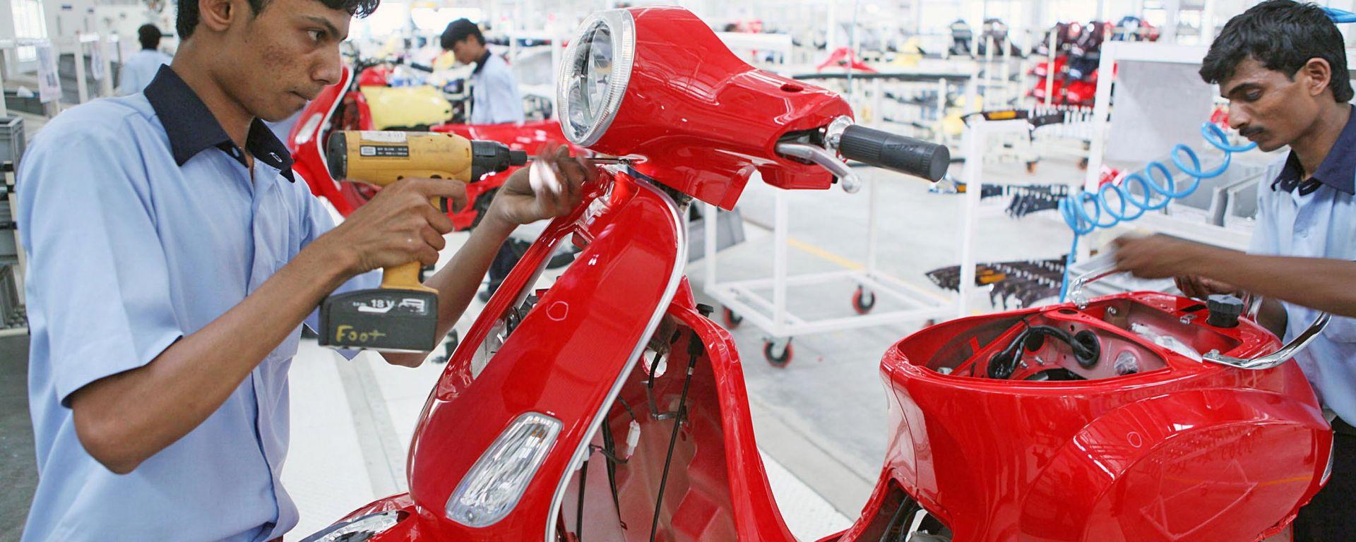 Piaggio, un motore da 60 km/litro per la Vespa indiana