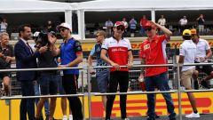 Pierre Gasly, Charles Leclerc e Kimi Raikkonen
