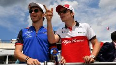 Pierre Gasly e Charles Leclerc