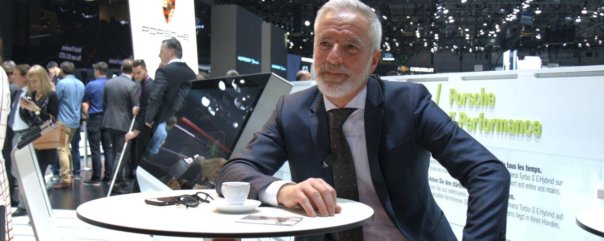 Pietro Innocenti, Direttore Generale di Porsche Italia al Salone di Ginevra 2017