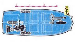 Pininfarina Model X lo schema  tecnico con le ruote a rombo
