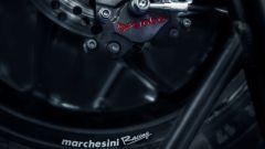 Pinza posteriore Brembo con cerchio Marchesini in magnesio forgiato
