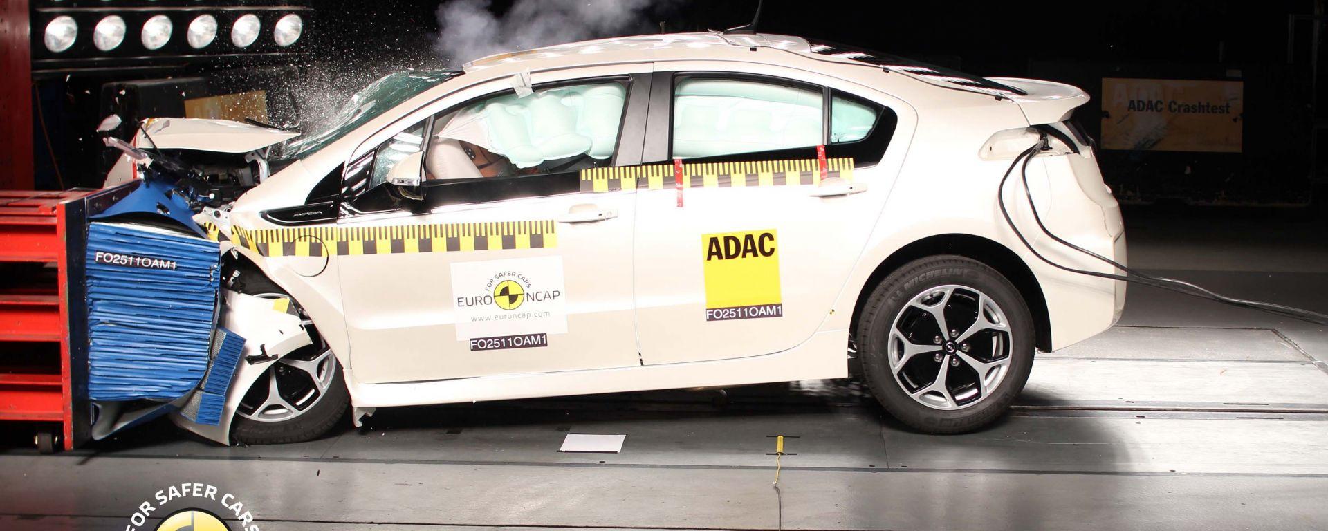Pioggia di stelle all'esame Euro NCAP d'agosto