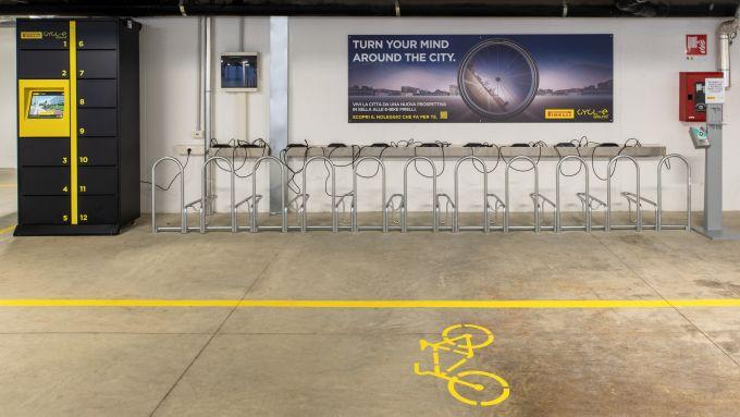 Pirelli Cycl-e Around, le rastrelliere per le e-bike