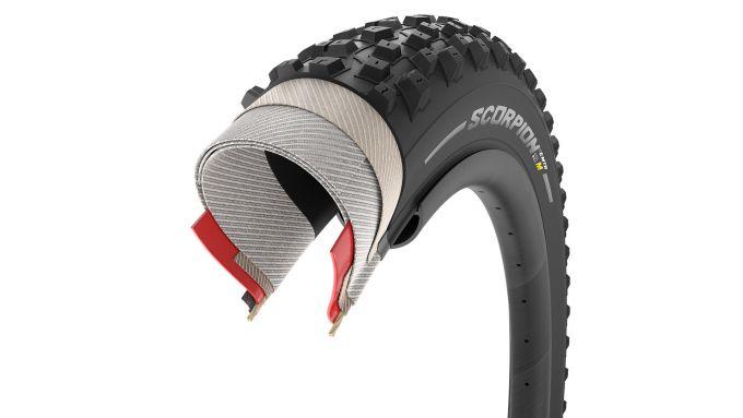 Pirelli Scorpion E-MTB: sezione della gomma