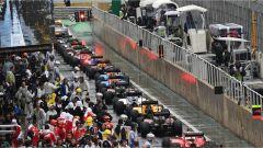 Pit lane - Brazil GP
