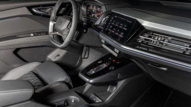 Plancia e interni di Audi Q4 e-tron