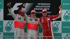 Podio GP Malesia 2007