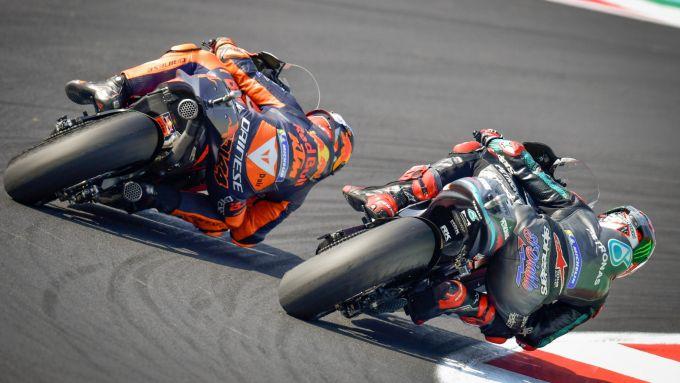 Pol Espargaro (KTM) e Fabio Quartararo (Yamaha)