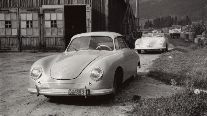 Porsche 356, il frontale