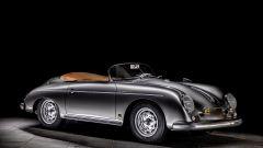 Porsche 356 Speedster: una immagine con la capote ripiegata