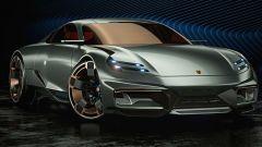 Porsche 911 by Paul Breshke: frontale da Taycan