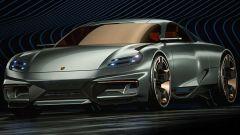 Porsche 911 by Paul Breshke: il frontale è dell'elettrica Taycan