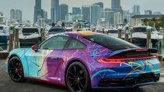 Porsche 911 opera d'arte NFT all'asta americana