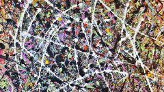 Porsche 911 by Rich B. Caliente: un quadro del pittore americano Jackson Pollock